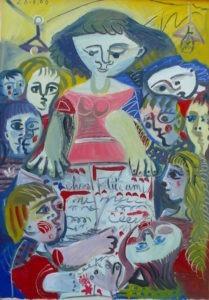 """""""à l'école"""" par Raymond Debieve"""