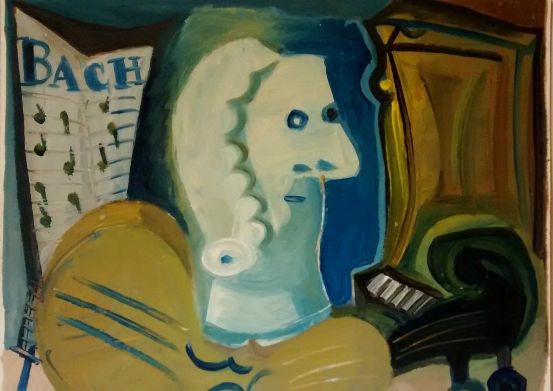 Bach, 42x36 / en vente