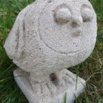 chouette, pierre sculptée, coll.privée