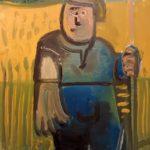 Homme à la fourche, 21x27 / vendu