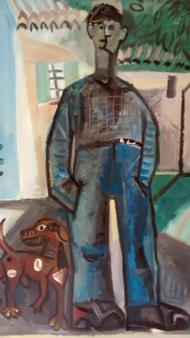 Homme et son chien, 50x75 / vendu