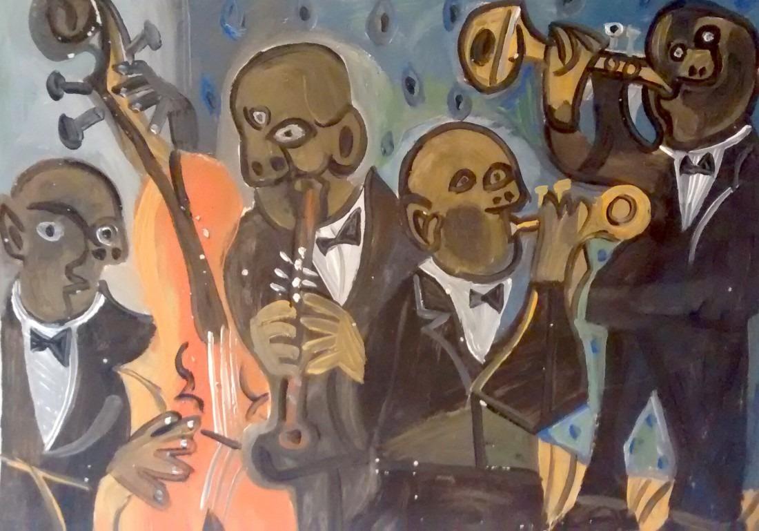 Jazz men, 66x50 / en vente