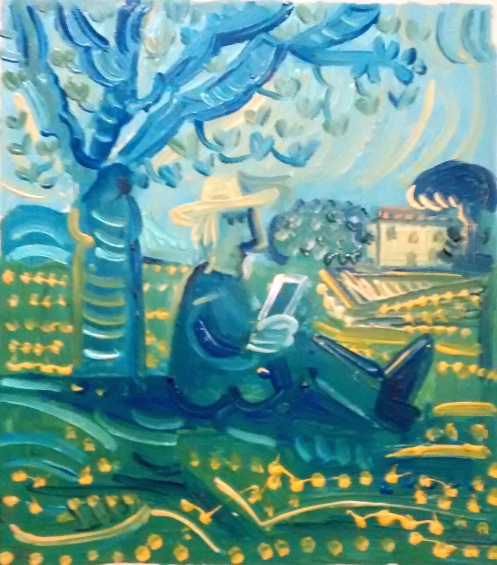 Lecteur sous l'arbre / En vente