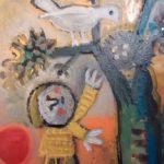 L'enfant et l'oiseau, 25x35 / vendu