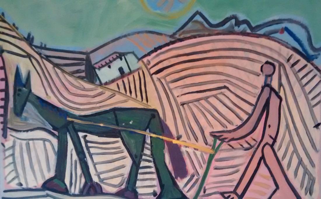 Paysan et cheval / En vente