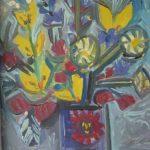 Bouquet au vase solaire, 27x21 / vendu