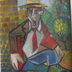 Homme au canotier, 43x38 / en  vente