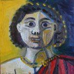 Jeune homme grec, 20x20 / en vente
