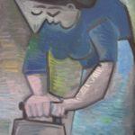La repasseuse bleue, 80x58 / en vente