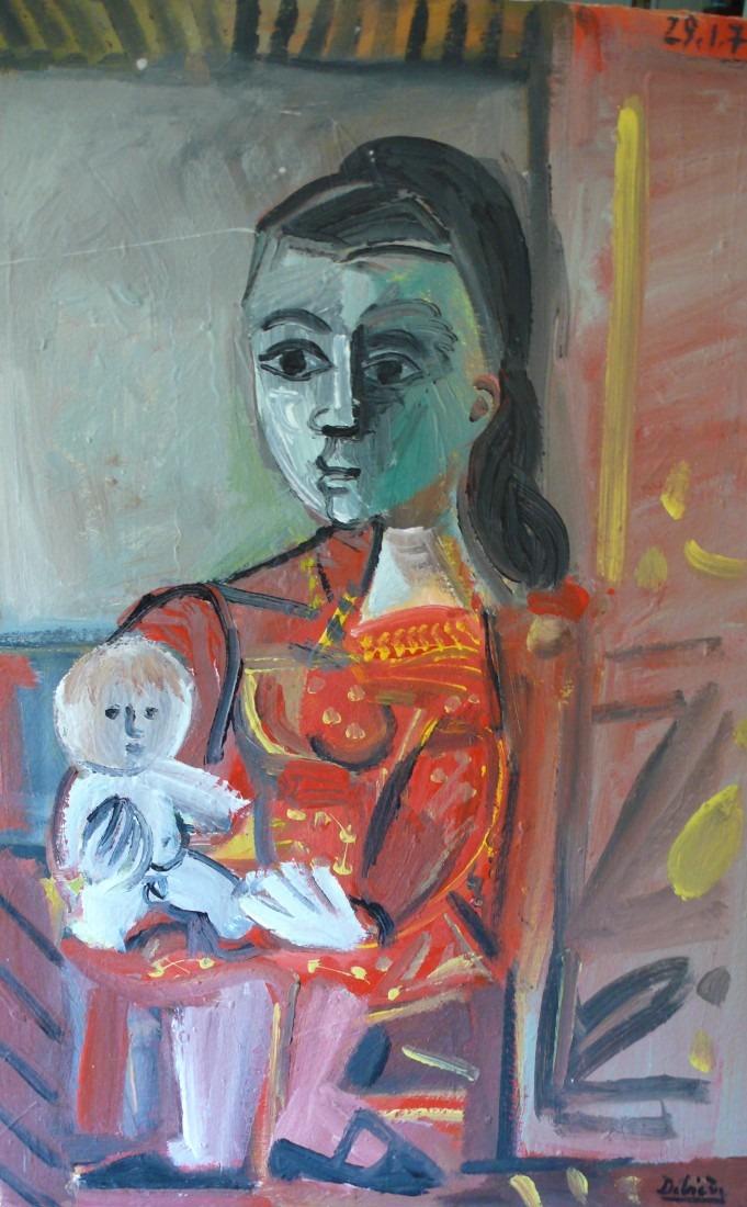 Mère et enfant, 58x41 / en vente