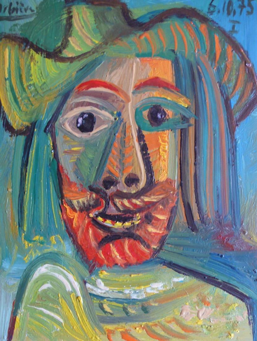 Mousquetaire multicolore, 26x20 / en vente