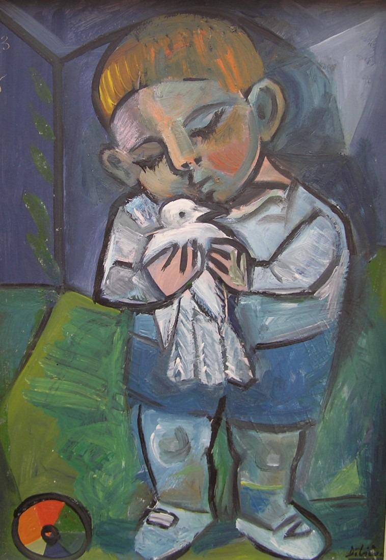 Enfant au pigeon / Vendu