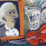 Beethoven, huile sur carton, 48x64, en  vente