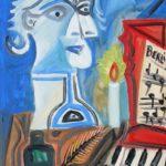 Berlioz, huile sur carton, 37x26, en vente
