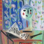 Debussy, huile sur carton, 36x28, en vente