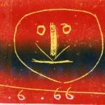 tête, 12 x 15 cm, gravure 3 encres (multiple), en vente