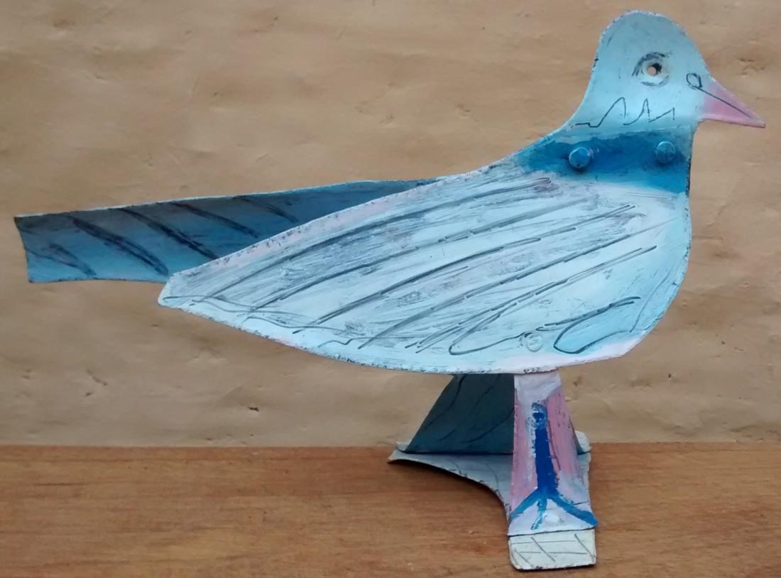 Pigeon, métal peint