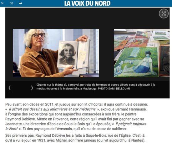 Raymond Debieve - La Voix de Nord