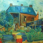 Maison de la rue du Marais, 78x104 cm, huile sur carton, en vente