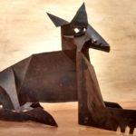 Loup, tôle découpée