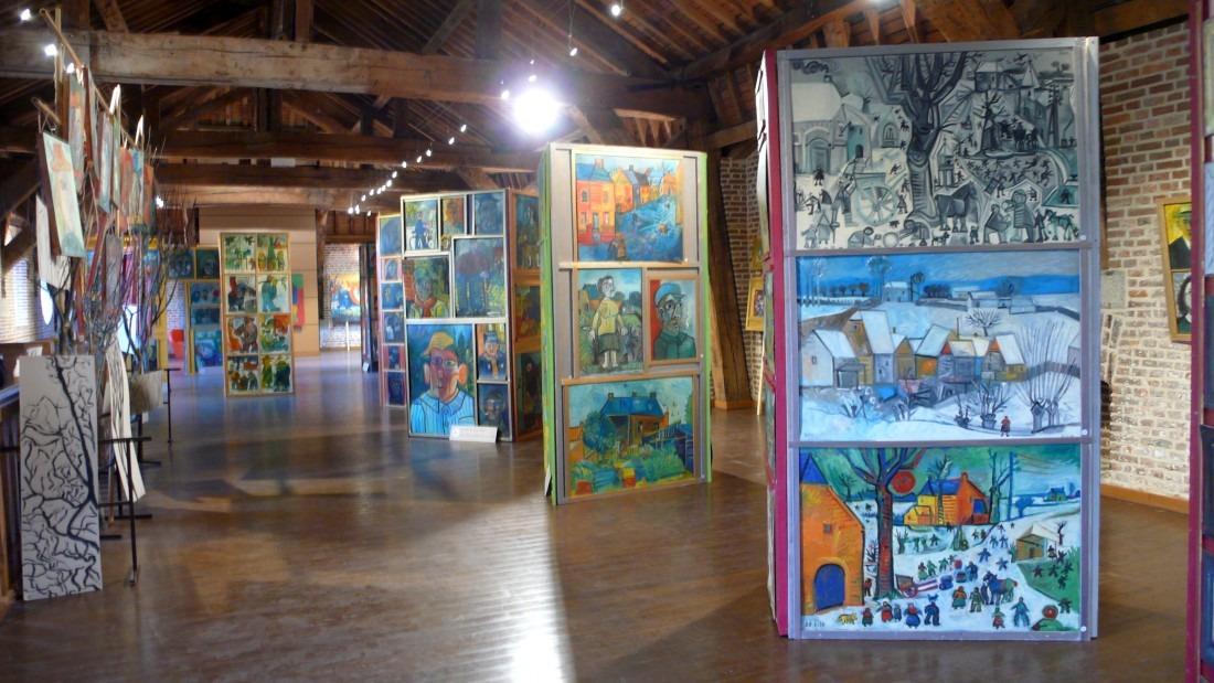 Exposition Raymond Debieve à Maubeuge - 2 étage