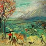 L'orage, 31x35 cm, huile sur carton, en vente