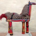 cheval, bois peint et balais