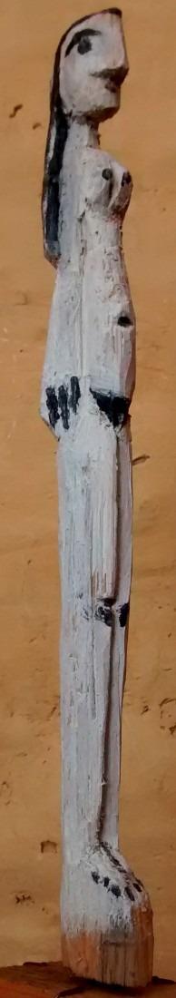 femme nue, bois peint