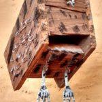 hibou, bois peint et fer