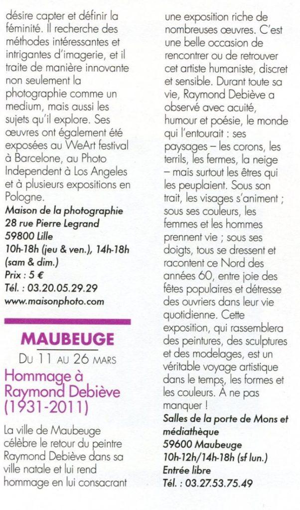 Exposition Raymond Debieve - Arts Magazine International