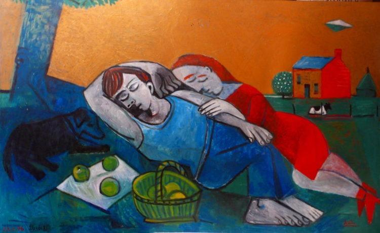 La sieste - Raymond Debiève - Collection privée