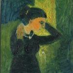 femme au collier, 11x14 cm, 1973