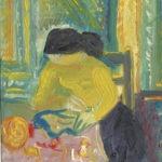 femme aux légumes II, 11x14cm, 1974