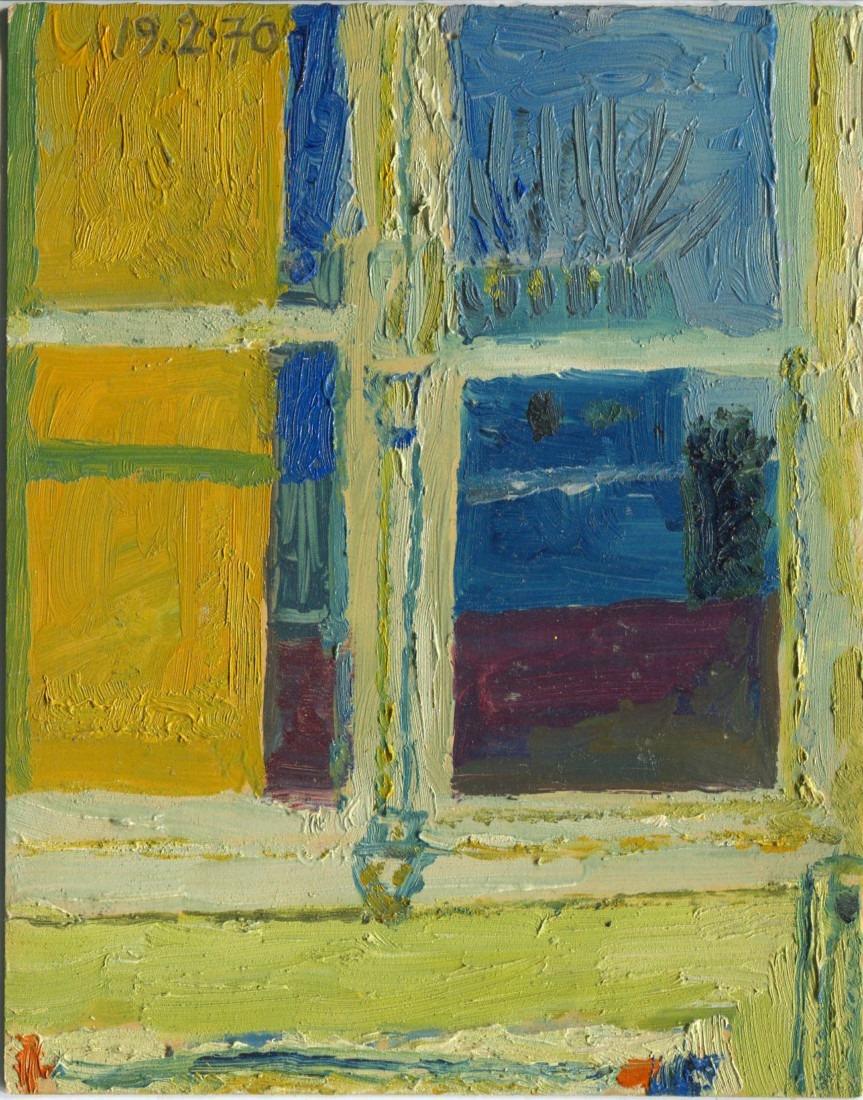 fenêtre, 11x14cm, 1970