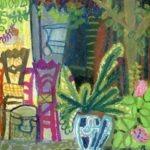 Chaises au jardin