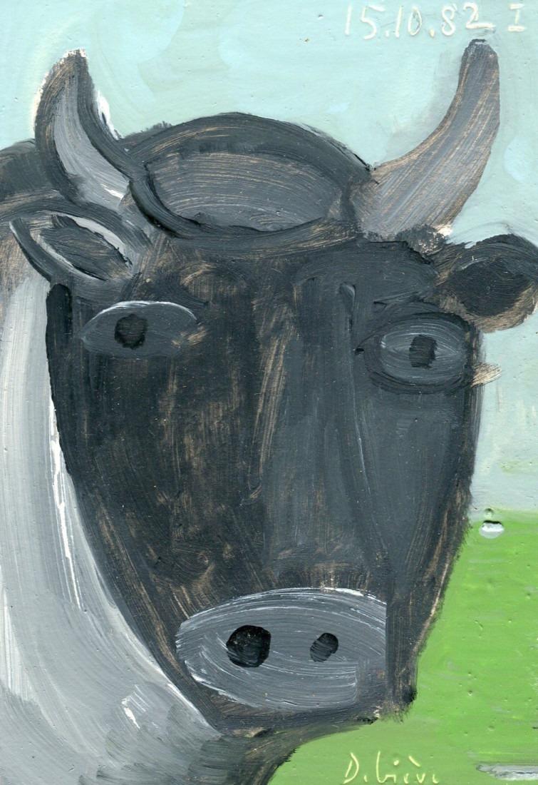 portrait de vache, 9x13cm, 1982