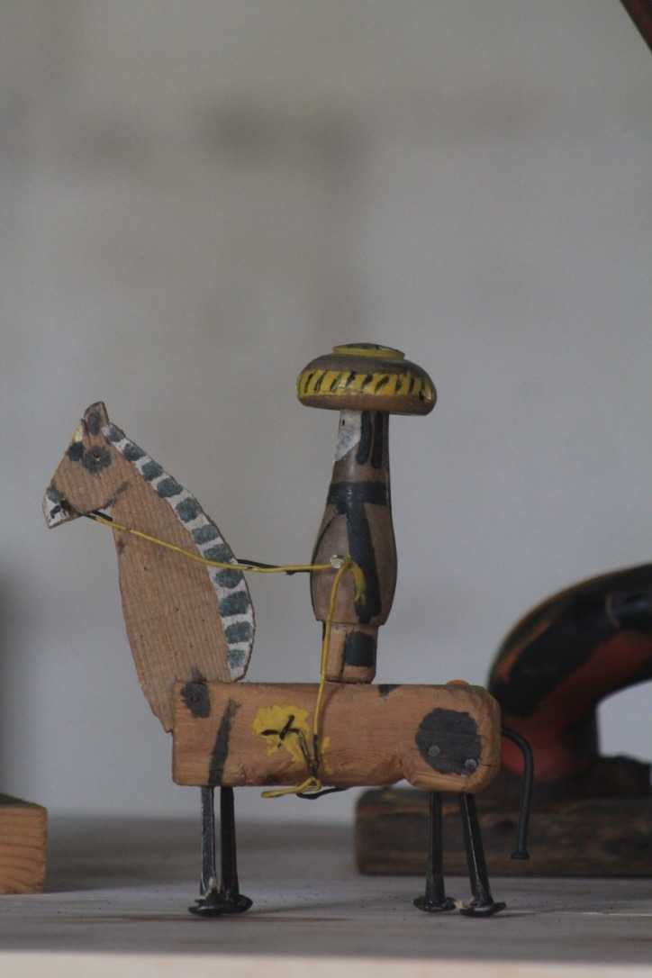 Mexicain, bois peint