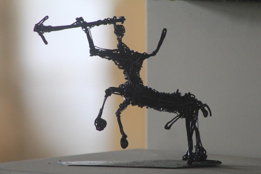 Centaure, fil de fer enroulé