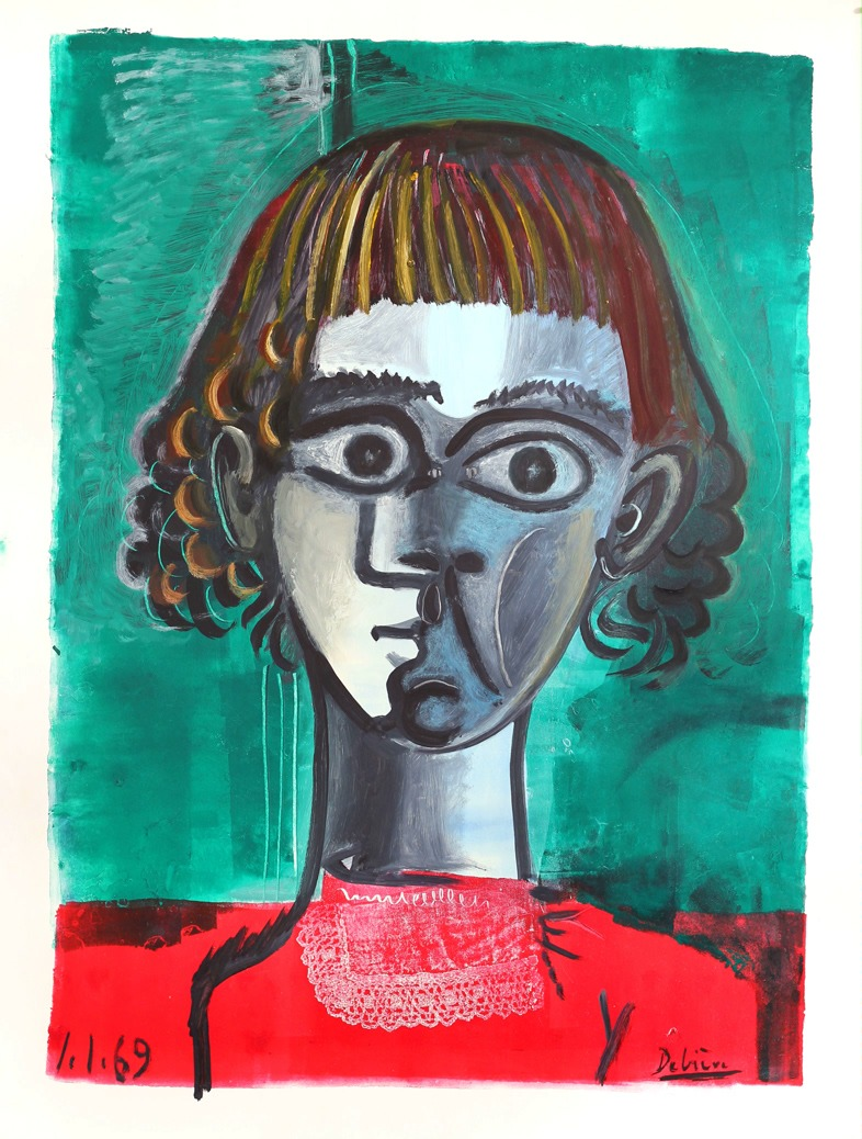 Vincent, encre sur papier, 50x65cm