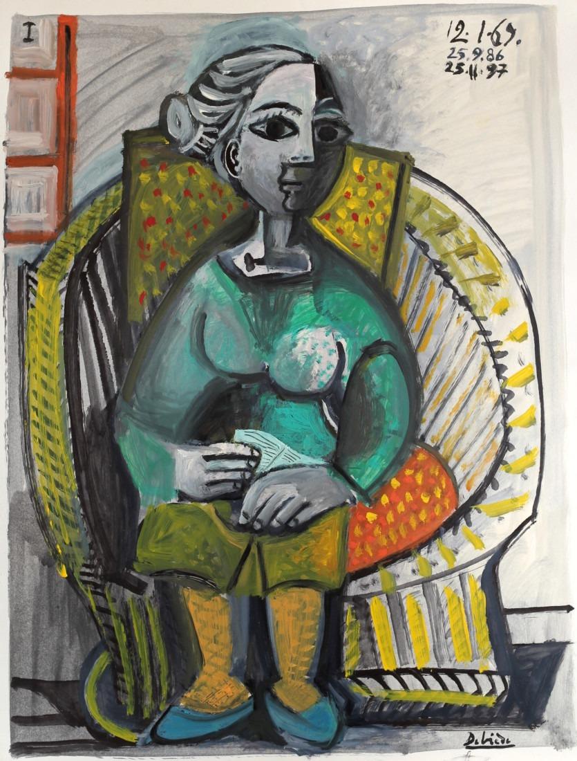 Jeannette, encre sur papier, 50x65cm