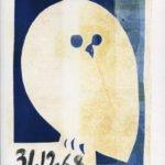 Chouette - 4 - monotype - 31. 12. 68 - 32 x 15 cm - en vente : 210€