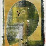 Chouette - 2 - monotype - 31. 12. 68- 32 x 15 cm - en vente : 210€