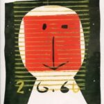 Tête 1 - monotype - 2. 6. 66 - 32 x 15 cm - en vente : 210€ - Acheter sur CHOUETTE galerie