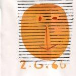 Tête - 3 - monotype - 2. 6. 66 - 32 x 15 cm - en vente : 210€ - Acheter sur CHOUETTE galerie