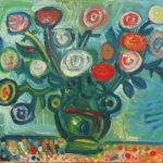 Debiève - bouquet anémones - 40 x 57 cm