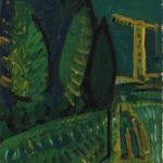 Debiève - grue jaune la nuit - 53 x 22 cm