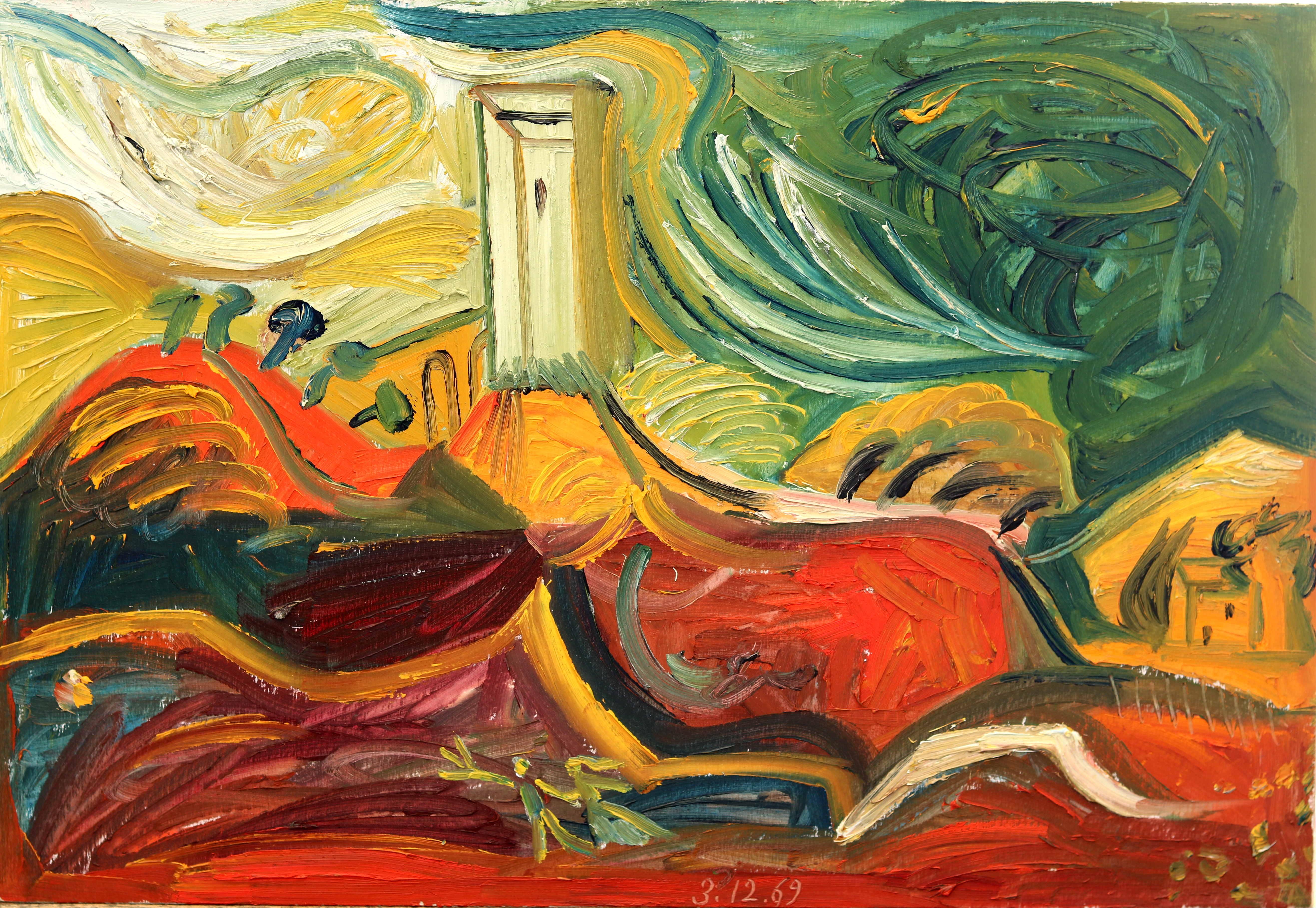 Debiève - Vaison rouge - 36 x 53 cm